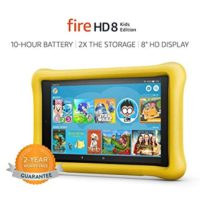 """Fire HD 8 Kids Edition Tablet, 8"""" HD Display, 32 GB, Yellow Kid-Proof Case"""