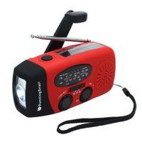 6. Hand Crank Self Powered AM/FM Radio with Flashlight
