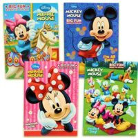 Disney's Mickey Mouse & Minnie Mouse Plus Friends Activity And Coloring Book (Set Of 4) by Bendon Publishing