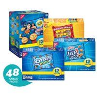 Nabisco Cookies Variety Pack - 48 Individual Snack Packs