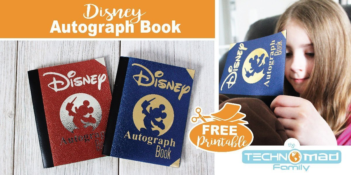 photograph regarding Printable Disney Autograph Book named Do it yourself Disney Autograph E book (with Free of charge Printables SVG Slice