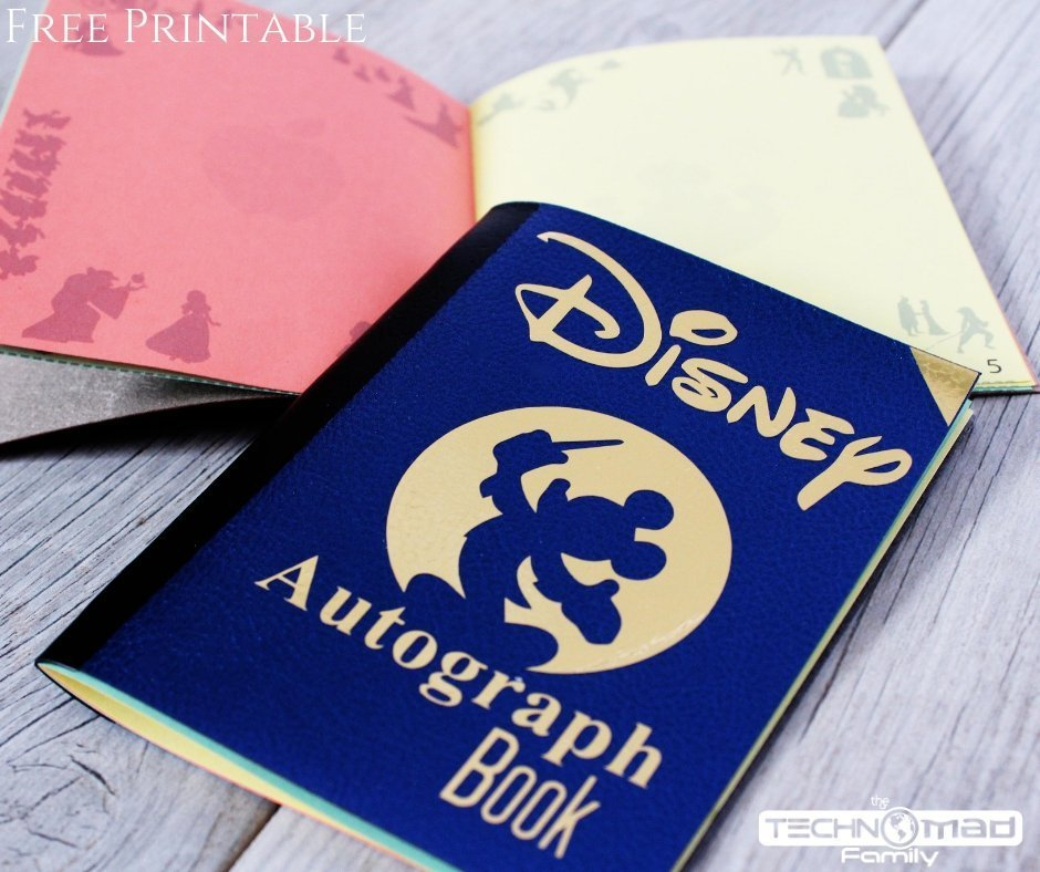 photograph about Printable Disney Autograph Book referred to as Do it yourself Disney Autograph Ebook (with Cost-free Printables SVG Reduce