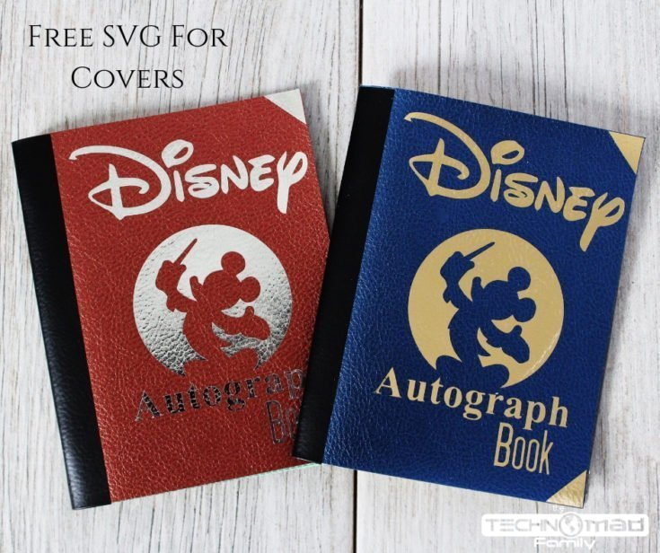 DIY Faux Leather & Foil Iron-on Cover for Disney Autograph Book