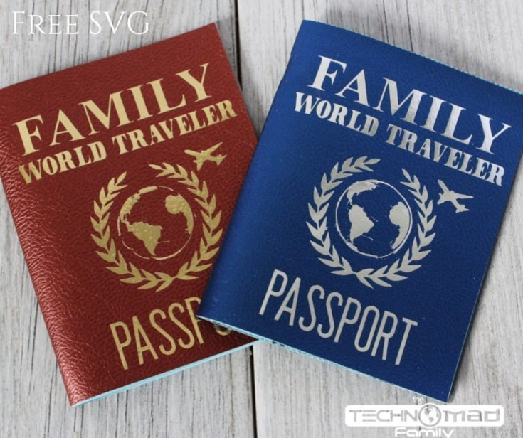 DIY Faux Leather & Foil Iron-on Cover for Family Passport